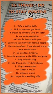 12 Things to stay positive