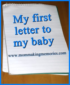 My first letter to my baby pinterest