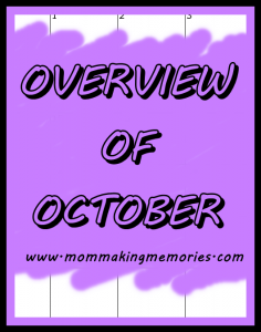 overview of october pinterest