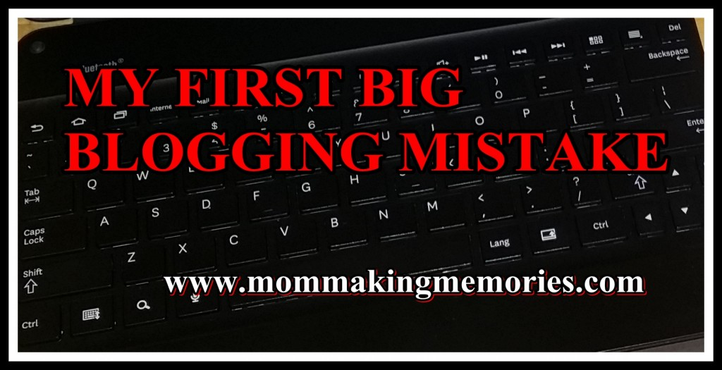 My first big blogging mistake