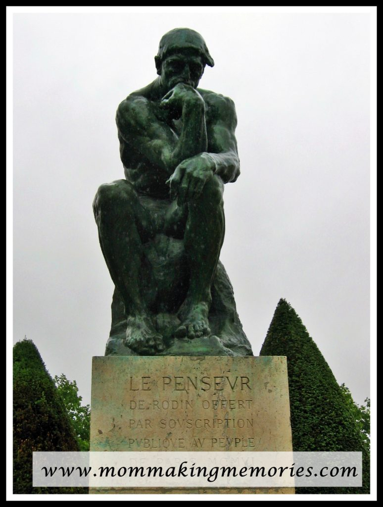 The Thinker at Rodin Museum in Paris France