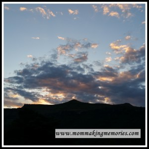 Finding rest... sunset over mountain