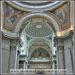Inside the Pantheon in Paris. www.mommakingmemories.com