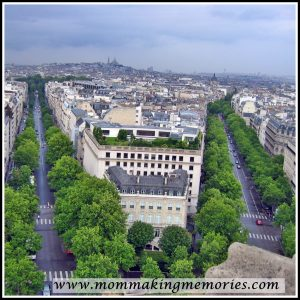 View from Arc de Triomphe. www.mommakingmemories.com