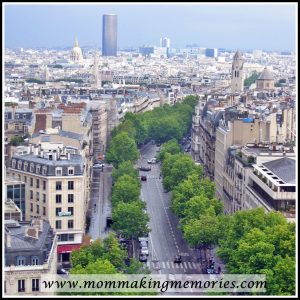View from the Arc de Triomphe in Paris. www.mommakingmemories.com