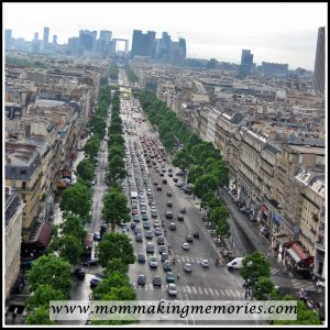 View of the Grande Arch from the Arc de Triomphe. www.mommakingmemories.com