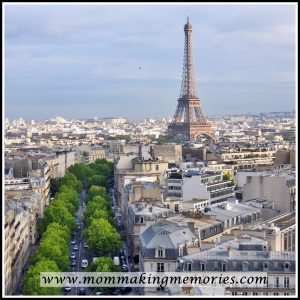 View of the Eiffel Tower from the Arc de Triomphe. www.mommakingmemories.com