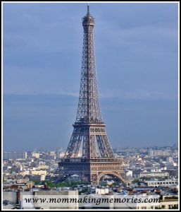 Eiffel Tower from the Arc de Triomphe in Paris. www.mommakingmemories.com