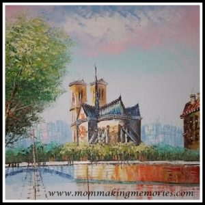Painting of the Notre Dame by Jacques. www.mommakingmemories.com