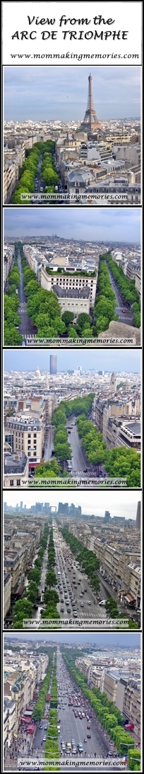 View from the Arc de Triomphe. www.mommakingmemories.com