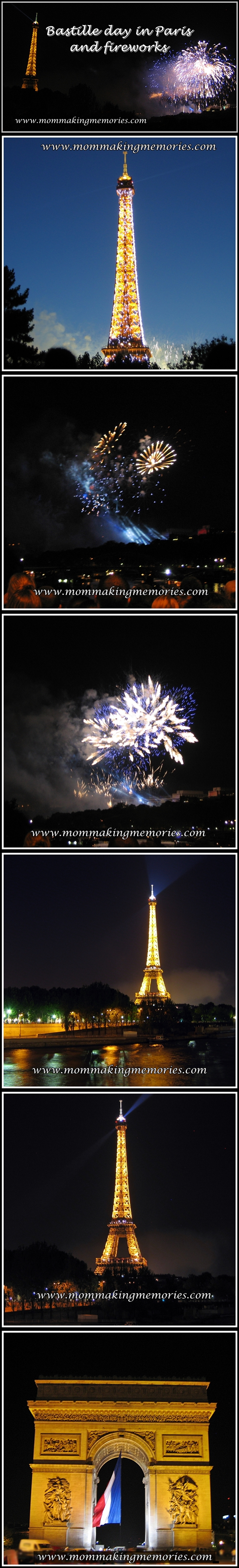Bastille day in Paris and fireworks at the Eiffel Tower. www.mommakingmemories.com