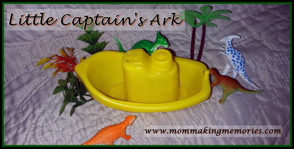 dinosaurs in the ark. Little captain.